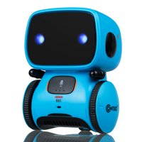 Contixo R1 Kids Robot Toy Boys Girls | Talking Interactive Voice Controlled Touch Sensor Dancing Singing Voice Recorder Funny Humor Speech Recognition Infant Toddler Children Robotics (Blue)