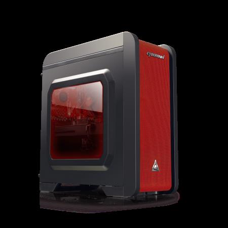Cybertron GameStation AMD Ryzen 3 2200G 3.50GHz (4 Cores) 8GB DDR4 1TB HDD 120GB SSD AMD RX 580 4GB GDDR5 Graphics WiFi MS Windows 10 Home 64 Bit (Black/Red) AMD Radeon Raise the Game Bundle