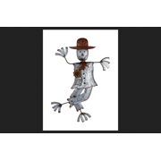 Sunset Vista Scarecrow Halloween Decoration Gray 30 in. H 1 pk