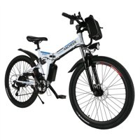 """Hascon 26"""" Folding Bike Electric Bicycle with Lithium-Ion Battery HITC"""