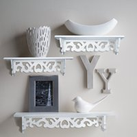 Floating Wall Shelves White Wall Mounted Shelves Display Stand Racks Great For Books Or Collections Add Design And Taste To Your Room