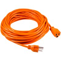 GE Indoor/Outdoor 50ft. Grounded Heavy Duty Extension Cord, Orange, 51926