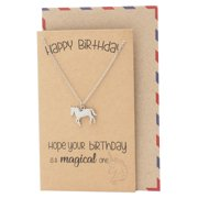 Quan Jewelry Unicorn Necklace Birthday Gifts For BFF Animal Valentines