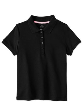 Toddler Girls School Uniform Short Sleeve Interlock Polo
