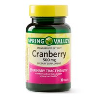 (2 Pack) Spring Valley Cranberry Extract Tablets, 500 mg, 30 Ct