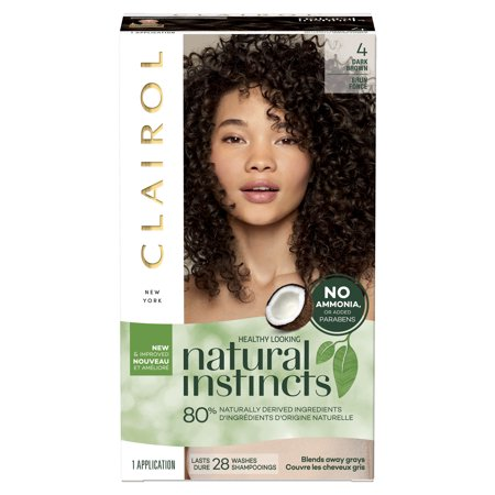 Clairol Natural Instincts Hair Color, 4 Dark (Azurite Blue Color)