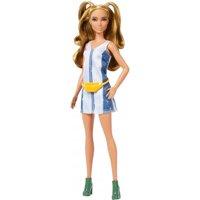Barbie Fashionistas Doll, Original Body Type with Denim Dress