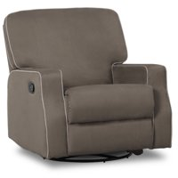 Delta Children Carson Nursery Glider Swivel Recliner, Graphite w/Dove Grey Welt