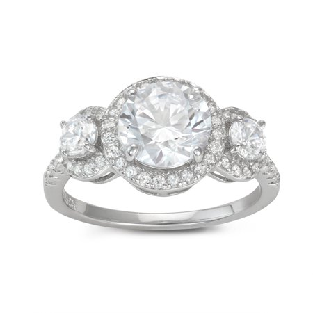 Sterling silver cz ring (Hal Jordan Ring)
