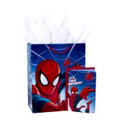 Hallmark Spider Man Large Birthday Gift Bag With Card And Tissue Paper