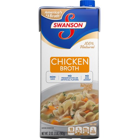 (6 Pack) Swanson Chicken Broth, 32 oz. Carton (Torino Stock)