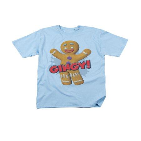 Shrek Gingerbread (Shrek Animated Children's Comedy Movie Gingy Gingerbread Man Adult T-Shirt )