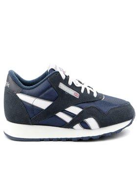 Reebok Classic Nylon Running Shoe - Team Navy/Platinum - Mens