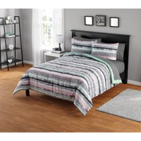 Your Zone Mida Stripe Comforter Set, 1 Each