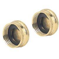 2 Pack Brass Hose Caps, Fiskars, 05HC2GT