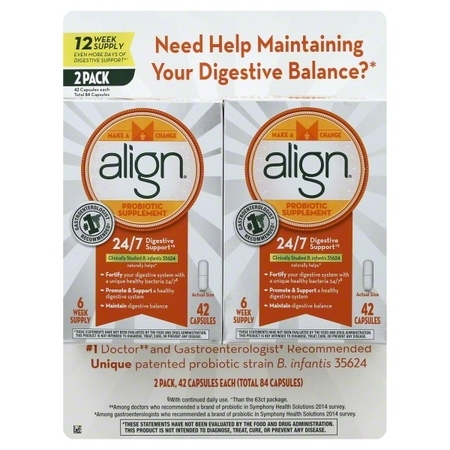 Align® Digestive Support Probiotic Supplement 2–42 ct Boxes