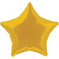 Foil Star Balloon, Gold, 20in