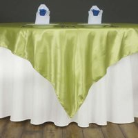 "Efavormart 60"" SATIN Square Table Overlay Table Toppers For Birthday Party Wedding Catering Event Table Decorations"
