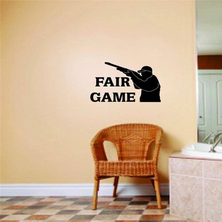 Fairing Decal (Custom Decals Fair Game Letters With Animal Hunter & Shot Gun Graphic Hunting Sports Ideas 12x18