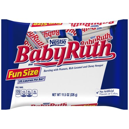 Nestle Baby Ruth Candy Bars Fun Size, 11.5 - Baby Candy