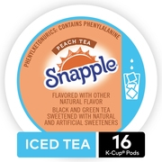 Snapple Peach Iced Tea Keurig Single-Serve K-Cup Pods, 16 Count