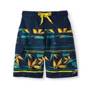 12568645bc Off The Shore Tropical Stripe Swim Trunks (Big Boys)