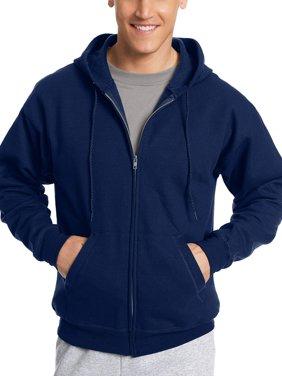 Hanes Men's Ecosmart Fleece Zip Pullover Hoodie with Front Pocket