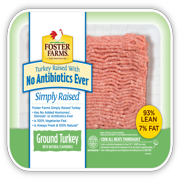 Foster Farms 93% Lean/7% Fat Antibiotic-Free Ground Turkey, 1 lb