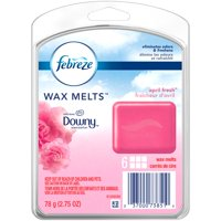 (2 pack) Febreze Wax Melts Air Freshener with Downy Scent, April Fresh, 6 wax melts, 2.75 oz
