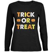 5e3f5adc5 Halloween Trick Or Treat Black Womens Long Sleeve T-Shirt