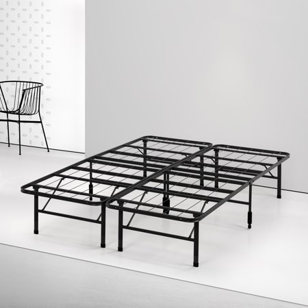Spa Sensations by Zinus - Steel SmartBase Bed Frame Black, Multiple
