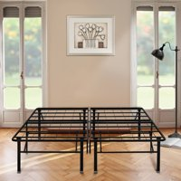 "Premier 18"" High Profile Platform Metal Base Foundation Bed Frame with Under-Bed Storage, Easy Assembly, Multiple Sizes"