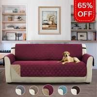 Turquoize Reversible Stay-in-Place Plush Furniture Oversize Loveseat Protector for Dogs/Cats with Straps, Multiple Colors and Sizes