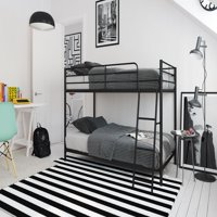 Mainstays Small Space Twin over Twin Bunk Bed, Multiple Colors
