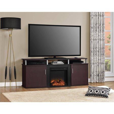 ameriwood home carson electric fireplace tv console for tvs up to 70 rh walmart com Electric Fireplace Media Console Walmart Electric Fireplace with Entertainment Center