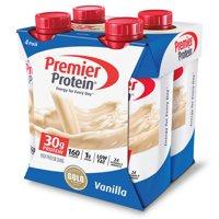 (2 pack) Premier Protein Shake, Vanilla, 30g Protein, 11 Fl Oz, 4 Ct