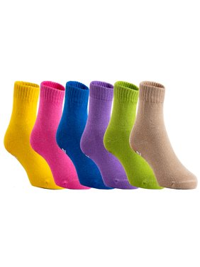 Lian Style Unisex Baby Toddler 6 Pairs Pack Non Slip Pure Cotton Socks JH007 1Y-3Y Boy Color