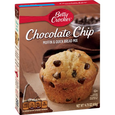 (3 Pack) Betty Crocker Chocolate Chip Muffin and Quick Bread Mix, 14.75 (Pumpkin Bread Chocolate Chips)