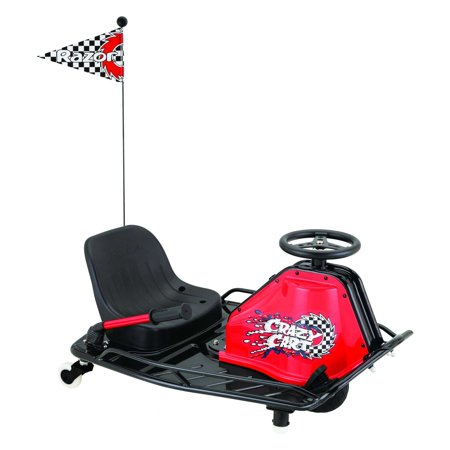Razor 24 Volt Electric-Powered Drifting Crazy Cart - For Ages 9 and Up and Speeds Up to 12 (Best Razor Kids Stuffs)