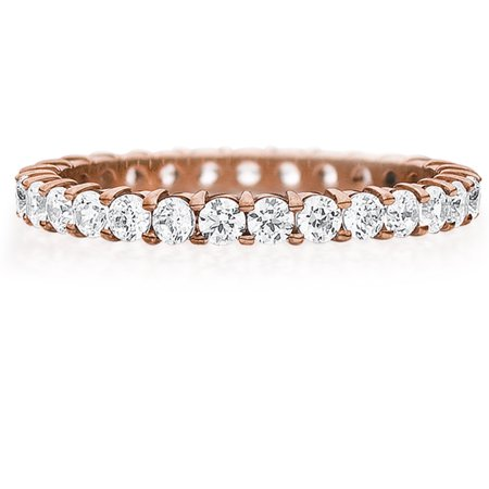 1 CTTW Shared Prong Diamond Eternity Anniversary Ring in 14K Rose Gold