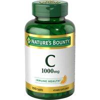 Nature's Bounty Pure Vitamin C Caplets, 1000 Mg, 100 Ct