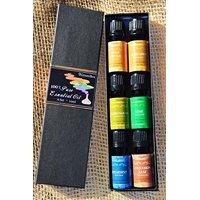 9GreenBox - Aromatherapy Best 6 100% Pure Therapeutic Grade Basic Sampler Essential Oil Gift Set- 6/10 Ml (Sweet Orange, Bergamot, Lemon Grass, Lime, Spearmint, Cinnamon Leaf)