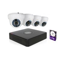 LaView 1080P HD 4 Security Cameras 4CH Home Video Security Camera System W/1TB HDD 2MP Night Vision CCTV Surveillance Kit