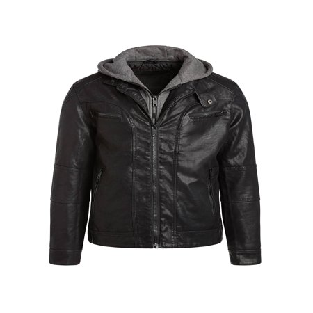 Alta MILJ120 Men's Faux Leather Moto Jacket -