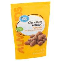 Great Value Cinnamon Roasted Almonds, 14 oz