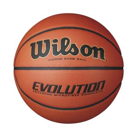 Wilson Evolution Indoor Game Basketball, - Orange College Replica Basketball