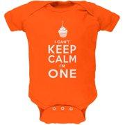 Birthday I Can't Keep Calm I'm 1 One Orange Soft Baby One Piece
