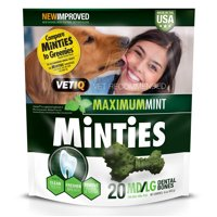 35% Off New Year Special! Minties Teeth Cleaner Dental Dog Treats Medium/Large, 20 Count