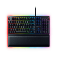 Razer Huntsman Elite: Opto-Mechanical Switch - Multi-Functional Digital Dial & Media Keys - Leatherette Wrist Rest - 4-Side Underglow - Gaming Keyboard