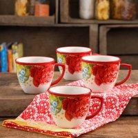 The Pioneer Woman Blossom Jubilee 16-Ounce Mug Set, Set of 4